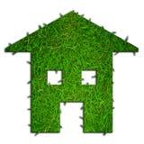Het groene huis van Eco Stock Afbeelding