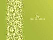 Het groene kant verlaat verticaal naadloos patroon Stock Fotografie