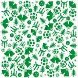 Het groene Kerstmis verpakken Royalty-vrije Stock Foto