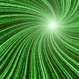 Het groene knipperen royalty-vrije illustratie