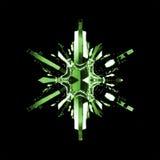 Het groene Kristal van de Sneeuwvlok Stock Fotografie