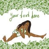 Het groene Leven stock illustratie