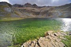 Het groene meer Stock Foto's