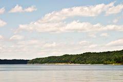Het groene Meer van de Rivier Stock Foto