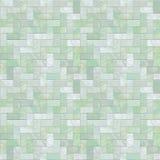 Het groene Naadloze Patroon van de Vloer van de Steen Stock Foto