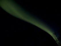 Het groene Noordelijke Lint van Lichten over het Bos Van Alaska Royalty-vrije Stock Afbeelding