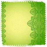 Het groene ornament van het Kant Royalty-vrije Stock Foto