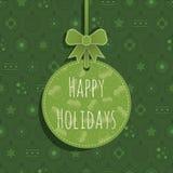 Het groene ornament van Kerstmis Stock Foto