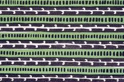Het groene patroon van de boekdekking Stock Fotografie