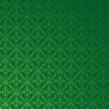 Het groene Patroon van het Damast Royalty-vrije Stock Afbeeldingen