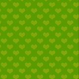 Het groene patroon van het Hart stock fotografie