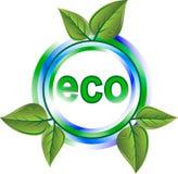 Het groene pictogram van Eco Royalty-vrije Stock Afbeelding