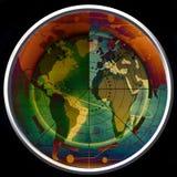Het groene radarscherm Stock Foto