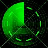 Het groene radarscherm Stock Foto's