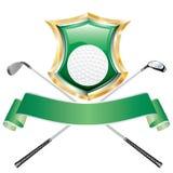 Het groene schild van het golf Royalty-vrije Stock Foto