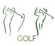 Het groene silhouet van golfpictogrammen Royalty-vrije Stock Afbeeldingen