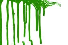 Het groene verf stromen stock afbeelding