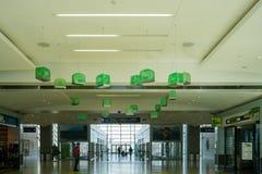 Het groene vogelnest hangen bij de luchthaven Royalty-vrije Stock Foto's