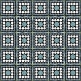 Het groene, Zwart-witte Klopje van Polkadot square abstract design tile Stock Fotografie