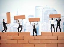 Het groepswerk bouwt nieuwe zaken Royalty-vrije Stock Afbeelding
