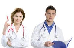 Het groepswerk van artsen, de mensen van de gezondheidsberoeps Stock Foto