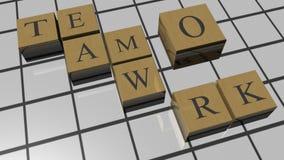 Het Groepswerk van de rebusspelling. Concept eenheid in zaken stock illustratie