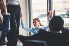 Het Groepswerkunie van de bedrijfsmensensamenwerking Concept Stock Afbeelding