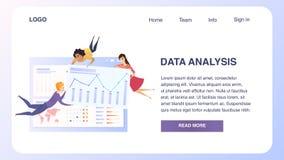 Het Groepswerkwebsite van Grath van de bedrijfsgegevensanalyse stock illustratie