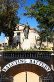 Het groeten Batterijoverwelfde galerij, Valletta Royalty-vrije Stock Afbeeldingen