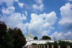 Het grondgebied van één van de beroemdste Orthodoxe kloosters: Heilige Dormition Kiev-Pechersk Lavra royalty-vrije stock afbeeldingen