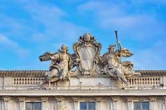 Het Grondwettelijk hof van de Italiaanse Republiek stock foto's