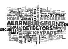 In het groot Inbreker Alarm Word Cloud stock illustratie
