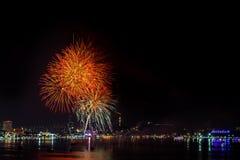 Het grootste jaarlijkse vuurwerk Stock Afbeelding