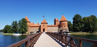 Het grootste kasteel in Litouwen Royalty-vrije Stock Foto