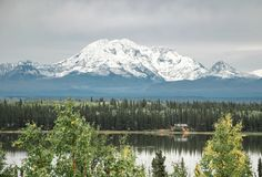 Het grootste Nationale Park in Amerika, Wrangell St Elias royalty-vrije stock afbeelding