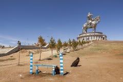 Het grootste standbeeld van de wereld van Chinghis Khan stock foto's