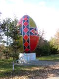 Het grootste traditionele paasei in de wereld stock foto