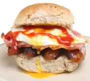 Het grote Broodje van het Ontbijt Stock Foto