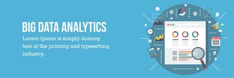 Het grote concept van de gegevensanalyse - vectorillustratie - Webbanner Royalty-vrije Stock Foto