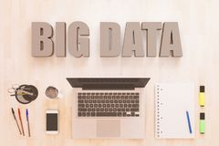 Het grote concept van de gegevenstekst Stock Afbeeldingen