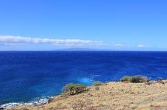 Het grote eiland van kustlijnhawaï Stock Afbeeldingen
