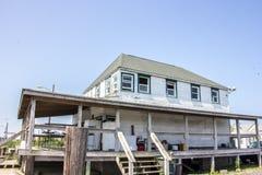 Het grote en uitgeputte huis van de visserijlevering in Delaware Royalty-vrije Stock Foto