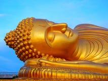 Het grote gezicht van Boedha, Thailand Stock Afbeelding