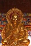 Het grote gouden beeld van Boedha Stock Foto