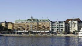Het Grote hotel in Stockholm Stock Foto's