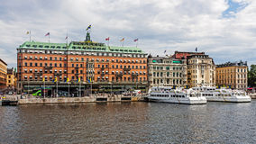 Het Grote Hotel Stockholm Stock Foto's