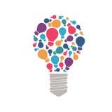 Het grote idee bestaat uit een ketting: kleine ideeën, wenken en uiteinden stock illustratie