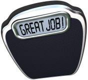 Het grote Job Praise Congratulations Reach Diet-Doel Sca van het Gewichtsverlies Royalty-vrije Stock Fotografie