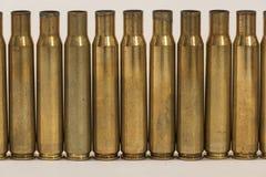 Het grote kaliber bullets shells muur Stock Afbeeldingen