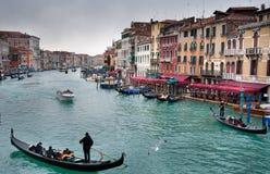 Het Grote Kanaal van Venetië Stock Afbeelding